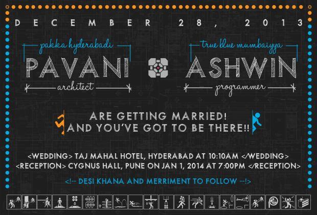 Portal themed wedding Invite